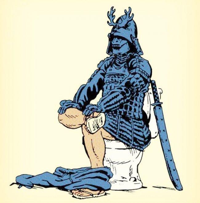 Боевой прием самурая для похода в туалет