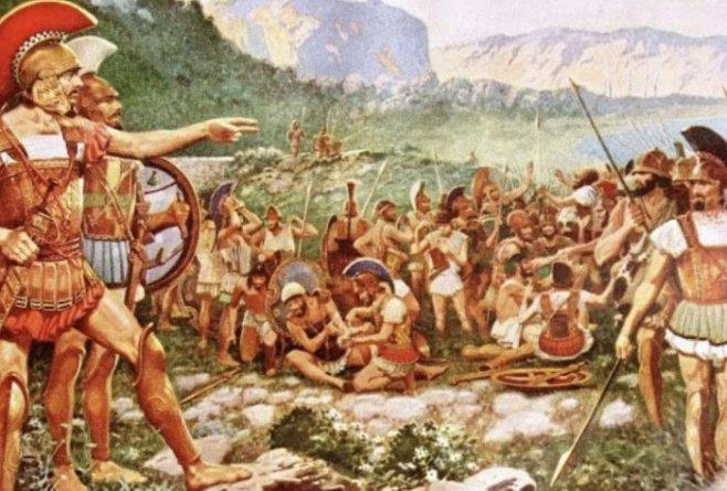 История про лаконичность воинов Спарты
