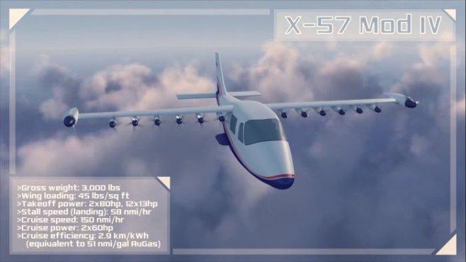 X-57 Maxwell Полностью электрический самолет от NASA